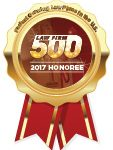 ClarkeGriffin Named a 2017 Law Firm 500 Honoree